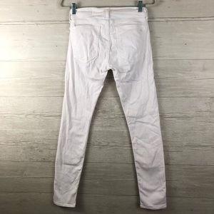 rag & bone Jeans - Rag & Bone The Dre White Denim Skinny Jeans